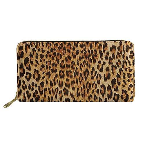 Nopersonality - Cartera para Mujer Mujer Negro Leopardo Large