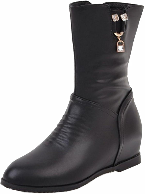 RizaBina Women Height Increasing Boots Zipper