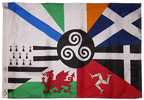 Trade Winds 2x3 Celtic Nations Combined 150D Woven Polyester Nylon Flag 2'x3' Banner Grommets Heavy (UV Fade Proof Heavy Duty Wind Resistant Fabric)