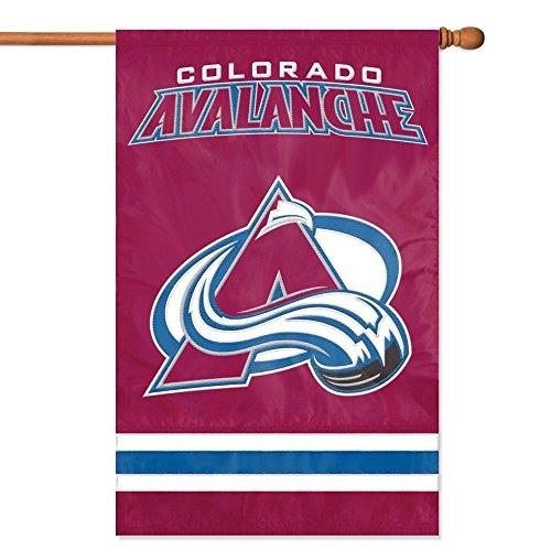 NHL 2-Sided Appliqué Banner Flag, Colorado Avalanche