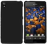 mumbi Hülle kompatibel mit Sony Xperia Z3 / Z3 Dual Handy Hülle Handyhülle, schwarz