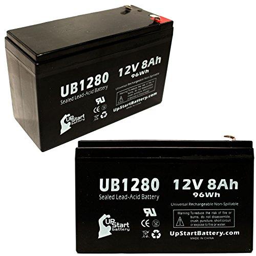 Ersatzakku für APC SMART-UPS 3000 SUA3000RMI2U (12 V, 8 Ah, 8000 mAh, F1 Terminal, AGM, SLA), 2 Stück