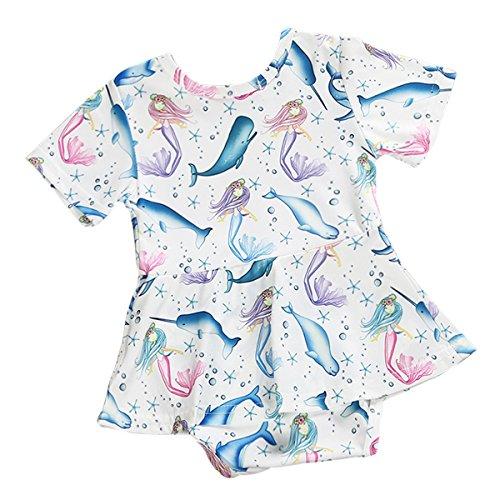 Borlai - Mono - para bebé niña White+Blue 6-12 Meses