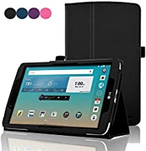 ACdream LG G Pad F 8.0 Protective Case, Folio Premium PU Leather Cover Case for LG G Pad F 8.0 Tablet [AT&T 4G LTE Model V495 and T-Mobile 4G LTE Model V496, 2015 Version], Black