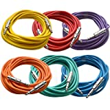SEISMIC AUDIO - SATRX-25BGORYP - Pack of Six (6) 25 Foot Colored 1/4' TRS Patch Cable - Balanced...