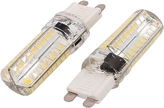 New Lon0167 2 Pcs Featured AC 220V 5W reliable efficacy G9 2835 SMD LED Corn Light Bulb Silicone Lamp 72-LED Warm White(i...