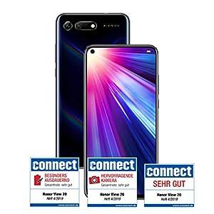 Honor View 20 128 GB Smartphone Bundle (16,3 cm (6,4 Pulgadas), cámara en Pantalla, Dual SIM, Android 9.0) + Honor Flip Protective Cover Gratis [Exclusivo en Amazon] – Versión Alemana