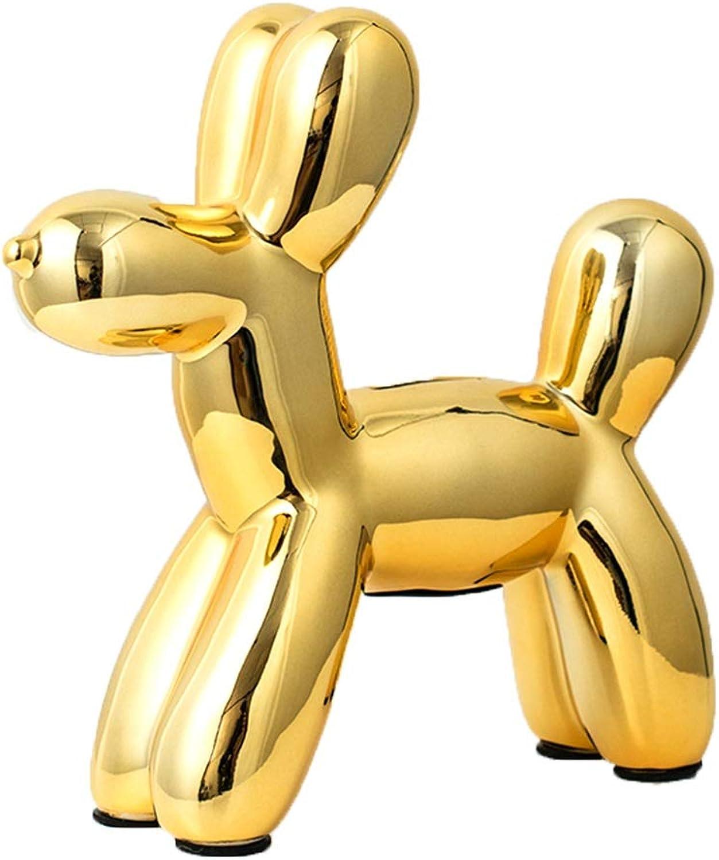 MAGO Balloon Dog Animal Art Sculpture, Living Room Bedroom Entrance Hotel Cafe Elegant Decoration (color   Champagne gold)