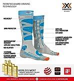 X-Socks SKI CONTROL 4.0 - Calcetines para mujer (talla 35/36), color gris