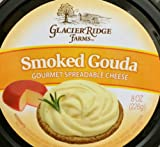 Glacier Ridge Farms Smoked Gouda Gourmet Spreadable Cheese 8oz (One Cup)...