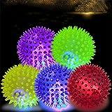 1220955 PVC Pet Dog Puppy LED Ball Light Up Intermitente Juguete persiguiendo rebote bola Spiky ã€6,5cmã€'