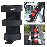 Adjustable Roll Bar Fire Extinguisher Mount Holder Strap 3 lb for Jeep Wrangler Unlimited CJ YJ LJ TJ JK JKU JL JLU (RED)