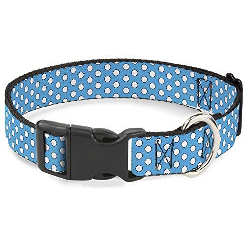 Katzenhalsband, Breakaway, Minnie Mouse, Punkte, 20,3-30,5 cm, 1,3 cm breit, Blau/Schwarz/Weiß