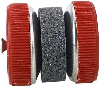 WOO LANDO - Afilador de cuchillos manual, fácil de afilar gracias a sus ruedas, ideal para cuchillos de cocina y exteriores, manejable y ligero, color rojo