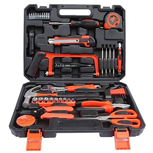 SSCYHT Kompletter Haushaltswerkzeugsatz mit allgemeinem tragbaren Handwerkzeugset und DIY-Zubehör (Werkzeugsatz für zu Hause, im Büro oder im Auto)