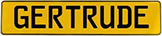 Vintage Parts 649135 Wall Art (Yellow Stamped Aluminum Street Sign Mancave Gertrude)