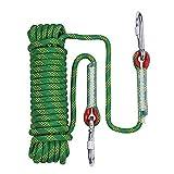 YanYun Cuerda de Escalada de 20 M de DiáMetro 10 Mm Cuerda de Escape de Fuego, Cuerda de Escape Equipo de Escalada Cuerda de ParacaíDas de Rescate de Emergencia
