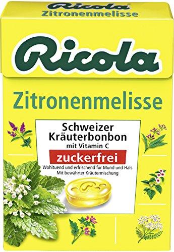 Ricola Zitronen- Melisse o.Zucker,Box, 20er Pack (20 x 50 g Schale)