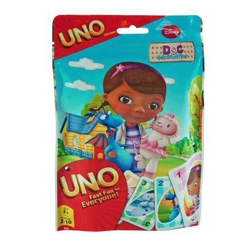 Disney Doc McStuffins Kids Uno Card Game in Foil Bag