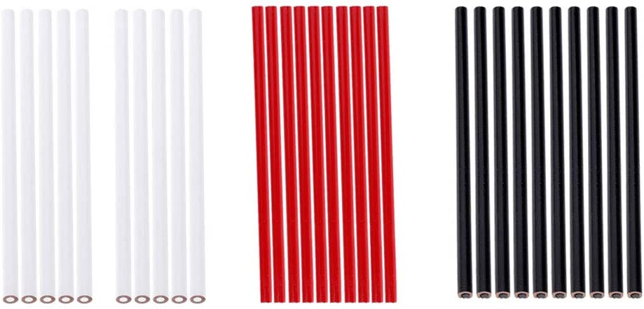 Abbraccia 30x CHINAGRAPH Deluxe China Marker Pencils Super Special SALE held - Bl Set White RED