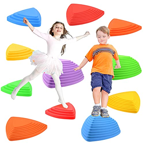 Gentle Monster Stepping Stones for Kids Set of 11 Pcs for Balance with NonSlip Bottom  Exercise Coordination and Stability Perfect Indoor and Outdoor Play Equipment for Kids Unique Birthday Gift