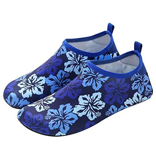 Zapatos de Agua Descalzos Adulto agua al aire libre del salto Zapatos Natación Surf Remo antideslizante de secado rápido de los zapatos de aguas arriba se puede plegar fácilmente Zapatos de Playa Anfi