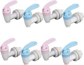 8 مجموعات صنبور مبرد المياه، صنبور موزع مياه بلاستيكي، زجاجة ماء إبريق صنبور صمام قطع غيار ، خيط داخلي ساخن وبارد