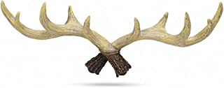 House of Quirk Deer Antlers Wall Mount Hooks for Wall Hanger Key Storage Holder Rack Wall Mount Home Decor (Size: 38cm x 4...