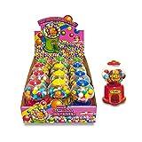 CASA DEL DOLCE Mini Gum Ball Machine, Juguete con chicle con Sabor a Fresa, Manzana Verde y Lima, Paquete de 12 piezas, Made in Italy, Ideas de Regalos para Cumpleaños y Fiestas