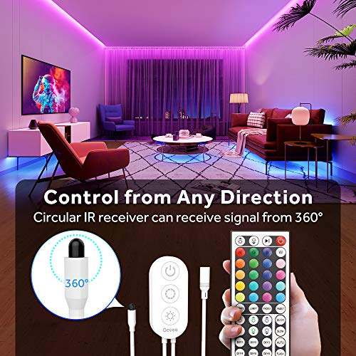 Govee Led Strip Lights, 65.6 Feet with Remote Control, RGB, for Bedroom, Ceiling, Kitchen 4