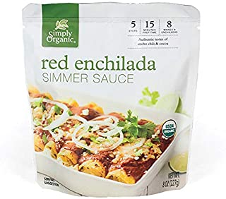 Simply Organic Red Enchilada Simmer Sauce, Certified Organic | 8 oz | Pack of 6