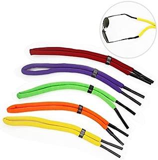 FASOTY 5 Pcs Floating Foam Glasses Strap Eyeglass Chain Eyewear Retainer Adjustable Safety Sport Unisex Sunglass Strap Rope Cord Lanyard
