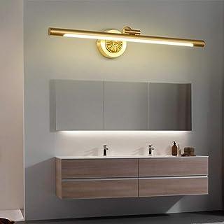 WHSS Applique murale en cuivre à LED pour miroir de salle de bain ou salle de bain - Applique murale nordique - Taille M