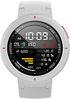 Amazfit Verge Smartwatch by Huami with GPS Plus GLONASS All-Day Heart Rate and Activity Tracking, Sleep Monitoring, 5-Day Battery Life, Bluetooth, IPX68 Waterproof - A1811 White