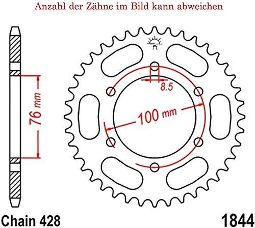 Ritzel 13 Z/ähne f/ür MT 125 A ABS Baujahr 2015-2016 von jtSprockets