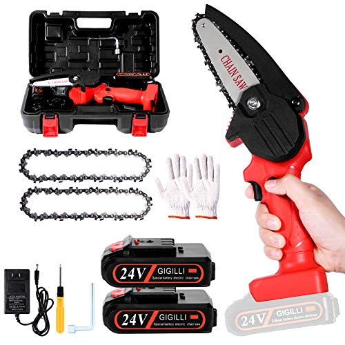 2021 Upgraded Mini Chainsaw with 2...