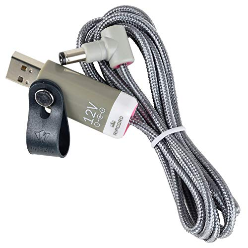 MyVolts Ripcord-USB-Ladekabel mit 12V DC Ausgangsstecker kompatibel mit ZT Lunchbox Junior Verstärker