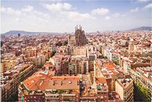 Nonebranded Puzzle Jigsaw Rompecabezas De 500 Piezas Vista Aérea De La Sagrada Familia Y El Paisaje Urbano De Barcelona En España para Adultos Adultos Adulto Hobby Decoración del Hogar DIY