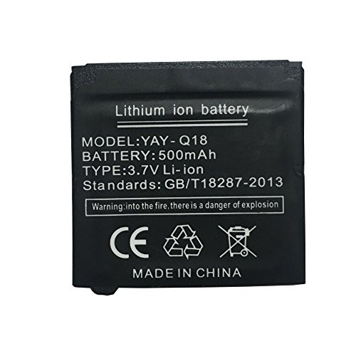 OCTelect Smart Watch Battery Q18 Rechargable Lithium Battery with 500MAH Capacity