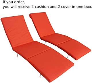 2Pcs Orange Cushion and Cover of Only Jetime Armless and Armed Lounge Chair …