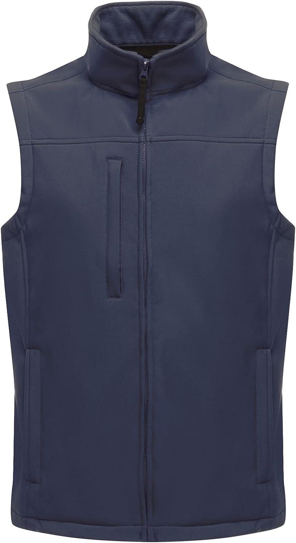 Regatta Mens Flux Softshell Vest Jacket (4XL) (Navy/Navy)