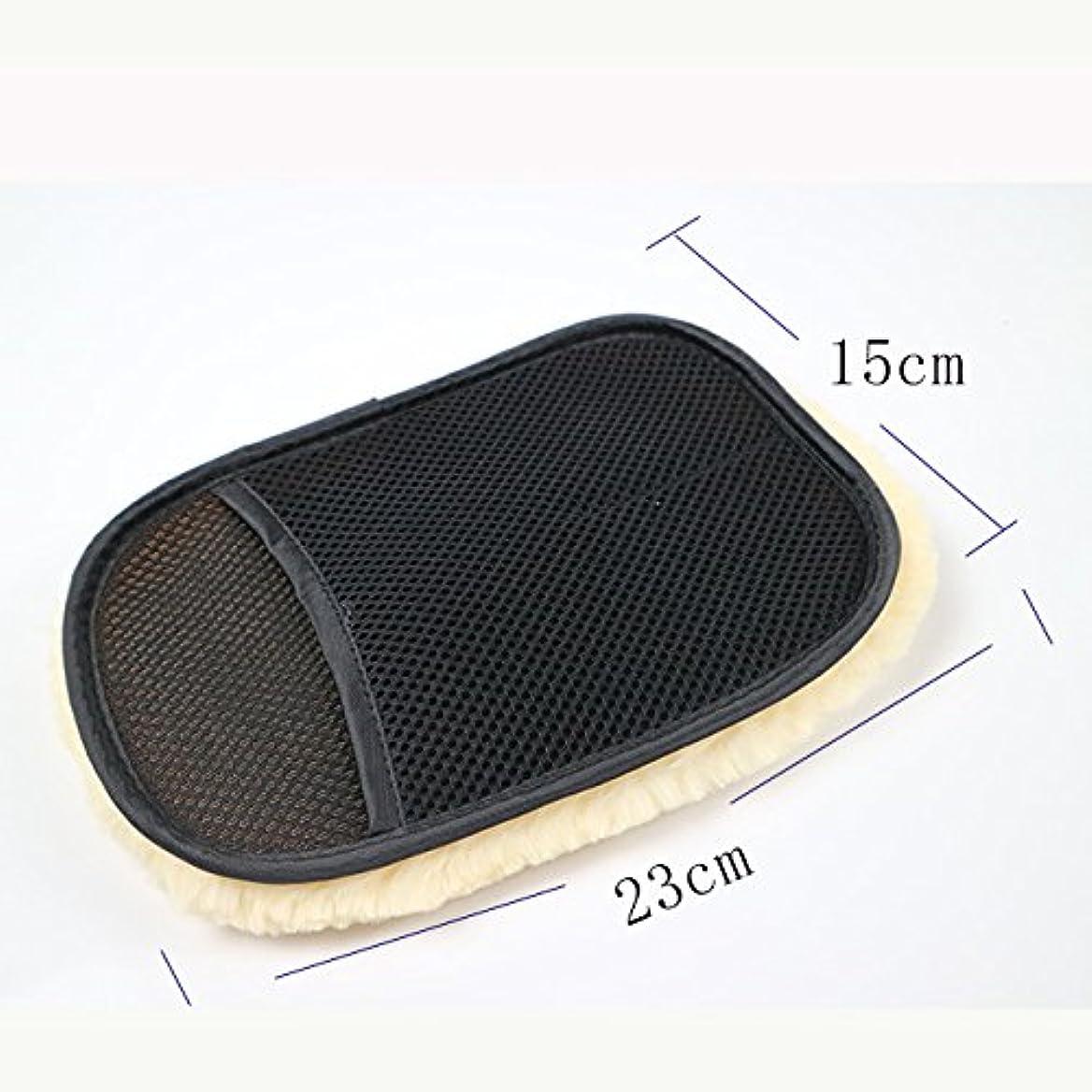 BTXXYJP カースタイリングウール 洗濯手袋 クリーニング ブラシ オートバイ ウォッシャーケア 5ペア (Color : Black, UnitCount : 5 pair)