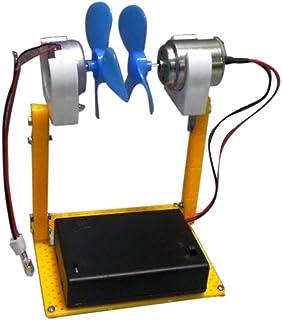 Baoblaze Set de Mini Generador de Turbinas de Viento Miniature LED Herramienta de Enseñanza de Energía