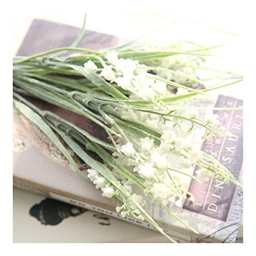 Roovtap Rustikales Grün Künstliche Pflanze Glockenblume Anpflanzung Calendula Gefälschte Seide Home Decoration Blume Dried Flower (Color : White)