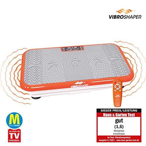 Vibro Shaper Vibrationsplatte Ganzkörper Trainingsgerät rutschfest große Fläche inkl Trainingsbänder Ernährungsplan das Original von Mediashop - 2