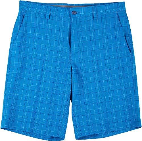 PGA TOUR Men's Standard Glen Plaid Printed Golf Short, Blue Sea Star, 36