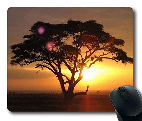 """Akazien-Rechteck-Mausunterlage-längliches Spiel Mousepad, Größe in 8,7\""""x 7,08\"""" Zoll"""