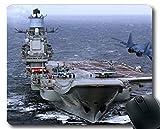 Yanteng Mouse Pads, Portaaviones Ruso Portaaviones Almirante Kuznetsov Buque de Guerra Jet Fighter Juego Alfombrilla de ratón Multi YT43