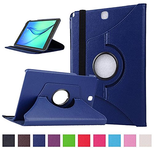 avis tablette low cost professionnel Coque Samsung Tab A 9.7 – Etui cuir rotatif 360 ° pour Samsung Galaxy Tab A 9.7 pouces…
