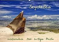 Seychellen - Inselparadiese Mahé La Digue Praslin (Wandkalender 2022 DIN A2 quer): Die Inseln sind Traumziele nicht nur fuer Liebhaber Palmen gesaeumter weisser Straende, sondern insbesondere fuer Reisende, die hier unberuehrte Schoenheiten tropischer Naturlandschaften finden. (Monatskalender, 14 Seiten )